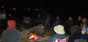 Campfire sessions at Quinty are very special events.